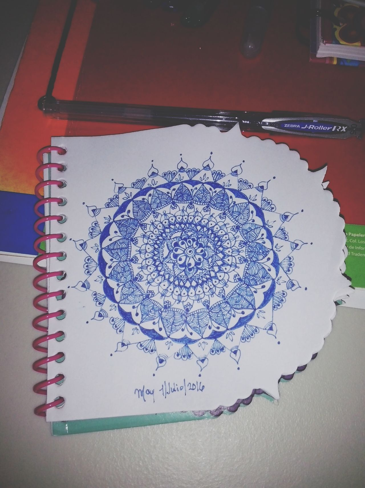 First mandala of July Drawing ✏ Zendala Mandala Zentangle Zentangleart Draw Mandala Painting Mandala Passion Art, Drawing, Creativity Patterns Relaxing Concentration Creativity Taking Photos