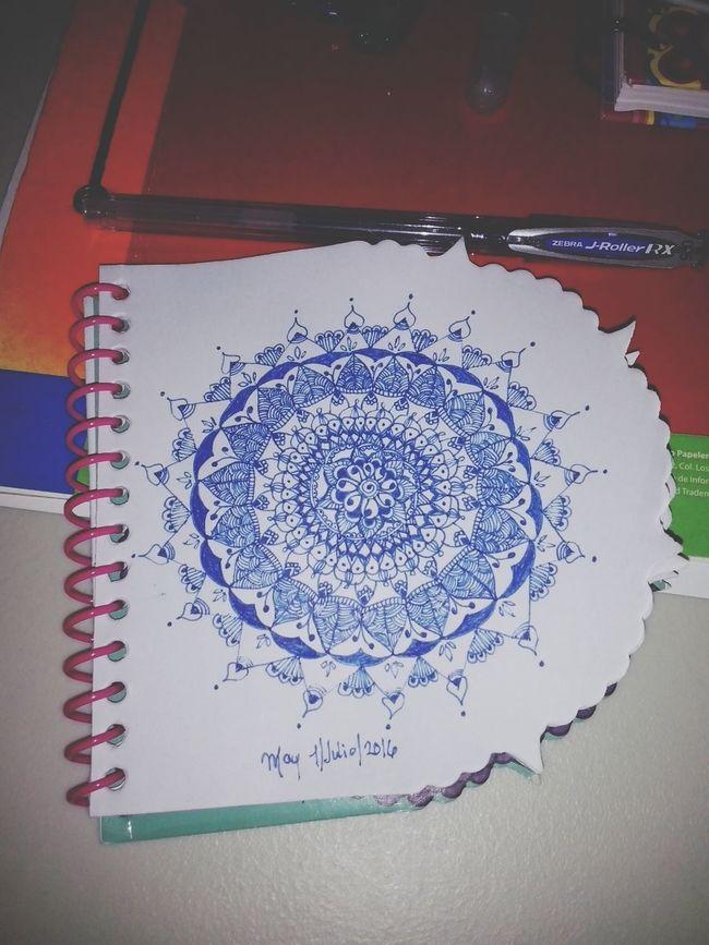 First mandala of July Drawing ✏ Zendala Mandala Zentangle Zentangleart Draw Mandala Painting Mandala Passion Art, Drawing, Creativity Patterns Relaxing Concentration Creativity Taking Photos