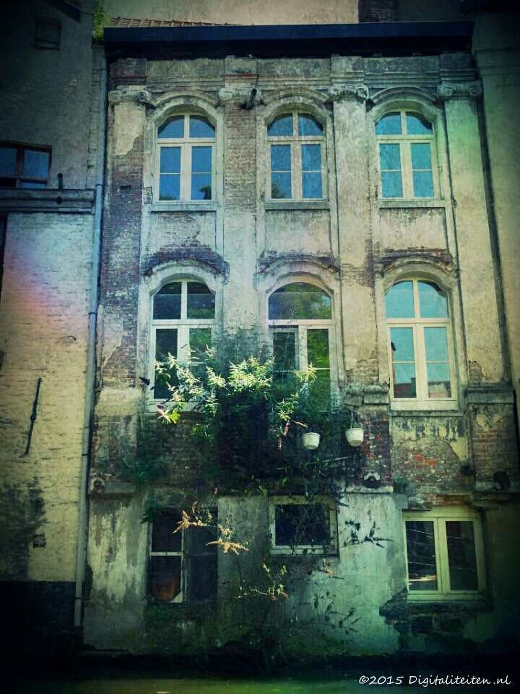 On a Canal Boat in Gent, Belgium Unesco Old Buildings Mobile Art Painterly