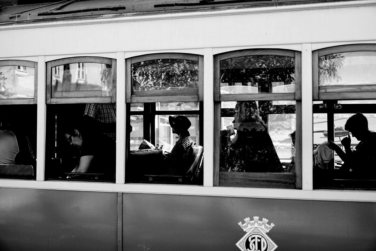 Porto Portugal Real People Window Lifestyles Women Public Transportation People City Life Real Photography Travel City Blackandwhite Streetphotography Blackandwhite Photography Train Monochrome