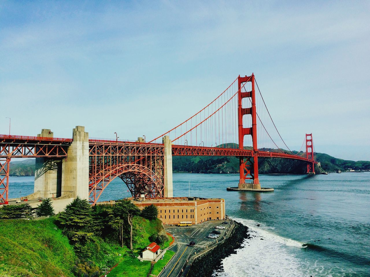 CULT! Architecture Travel City Bridge Outdoors San Francisco America USA Cult EyEmNewHere Aerial Top High Tall Red Red Bridge Famous Places Famous Travel Destinations Day Far American American Dream First Eyeem Photo Miles Away