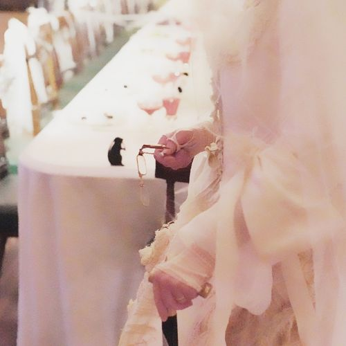 Walking Cane Spectacles One Person Indoors  Wedding Dress Real People Food Human Hand Close-up