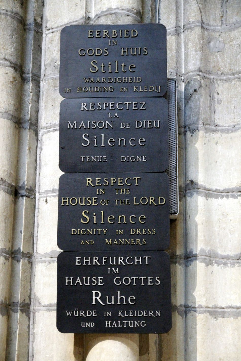 Belgium Cathedral Church Gent Gent, Belgium God Sign Architecture Building Exterior Built Structure Close-up Communication Day Low Angle View No People Outdoors Relegion Sacral Sunlight Text Western Script