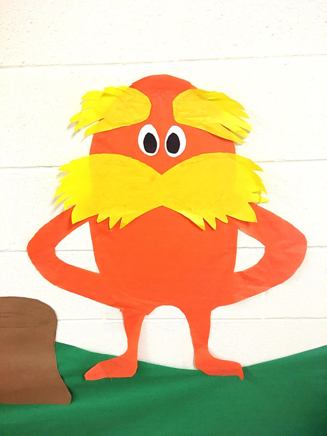 Papercraft School Bearded Mustache Cartoon Wall Art School Craft Construction Paper Kids Children