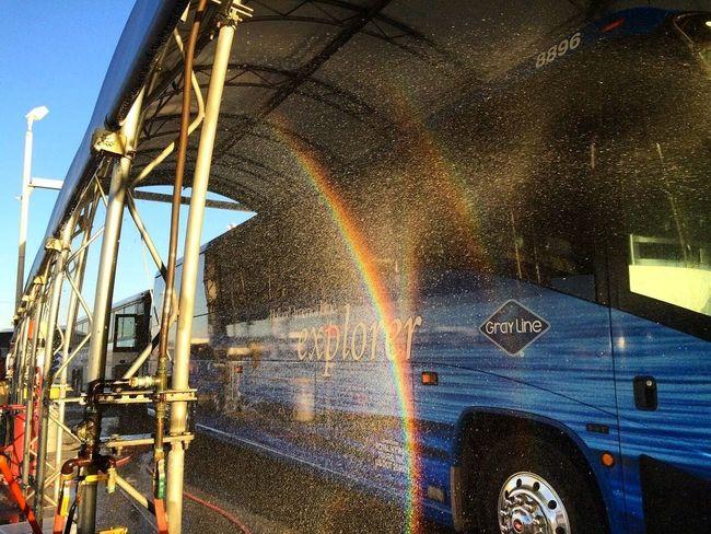 One..Two..Trip... <3 Explorer Exploring Bus Water Rainbow Shot Wallpaper Photography Enjoying Life Travel Goplaces