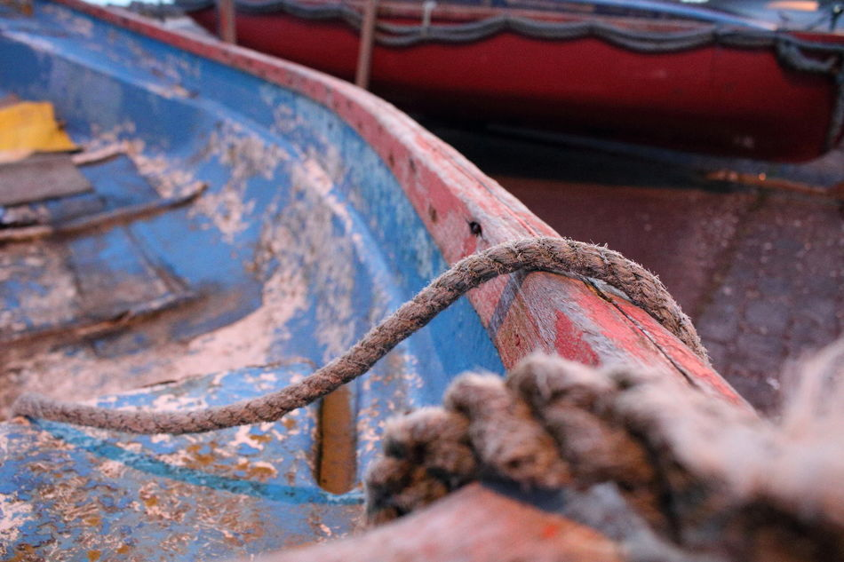 Left to Rust Abandoned Boat Close-up Damaged Day Mode Of Transport Moored Nautical Vessel No People Outdoors Rope Rusty Transportation EyeEmNewHere