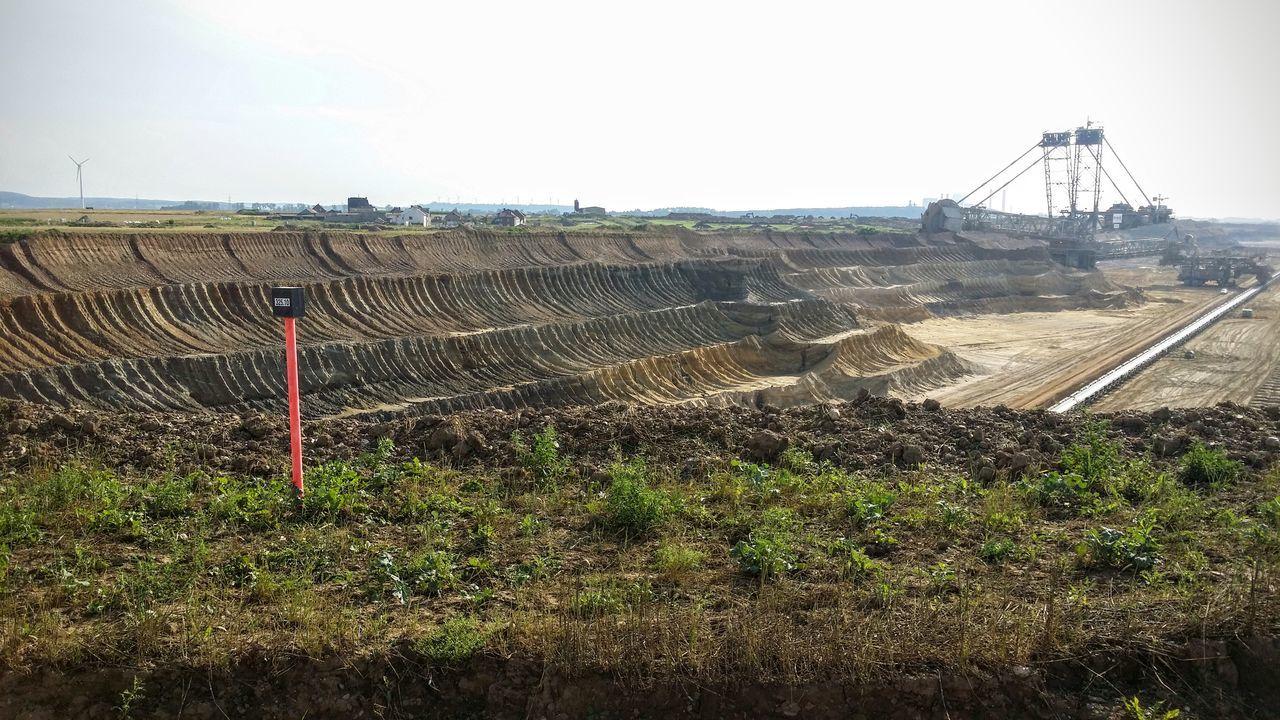 Bagger Braunkohle Clear Sky Landscape Opencast Mining Sky Tagebau
