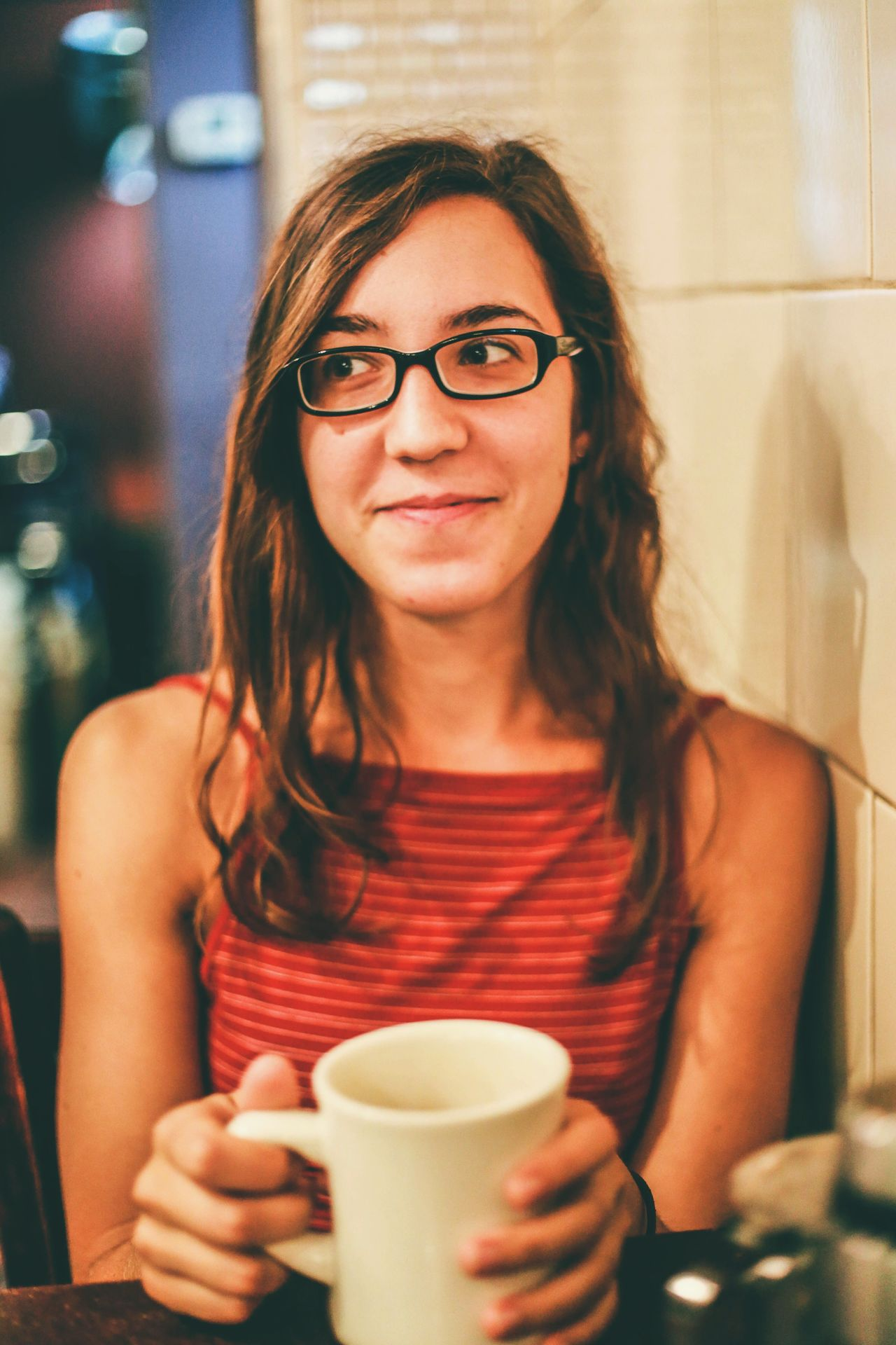 Coffee And Sweets the sweet girl and her coffee Austin Snapshots Of Life Portrait The Moment - 2015 EyeEm Awards The Portraitist - 2015 EyeEm Awards