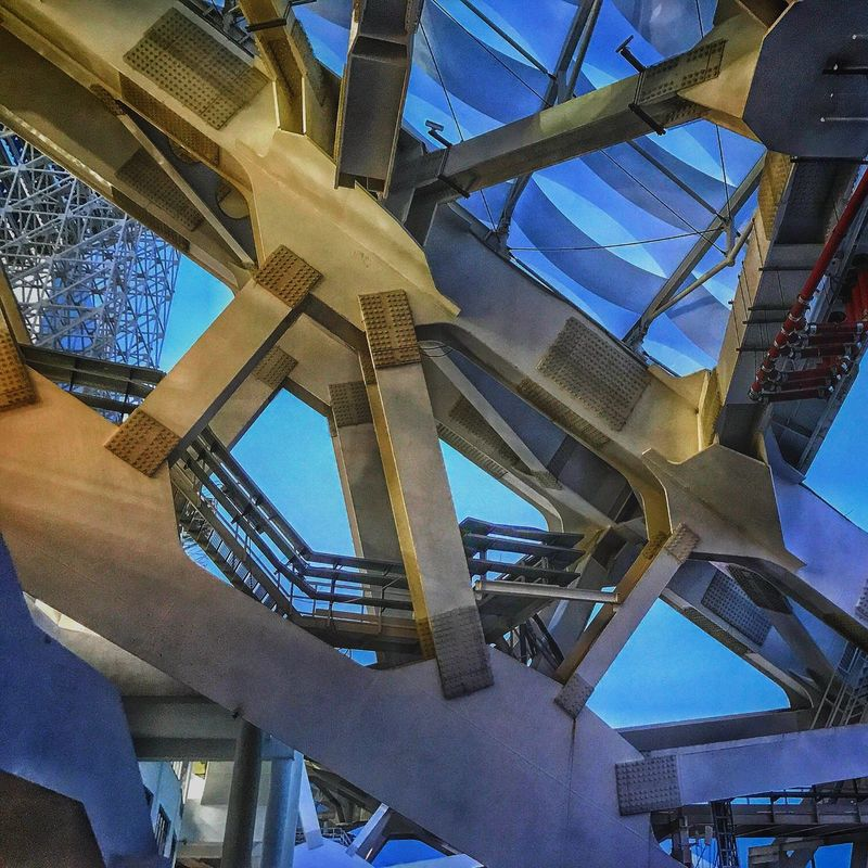 Low Angle View Built Structure Architecture Steps And Staircases Staircase Day Sky Building Exterior No People Outdoors Spiral Staircase