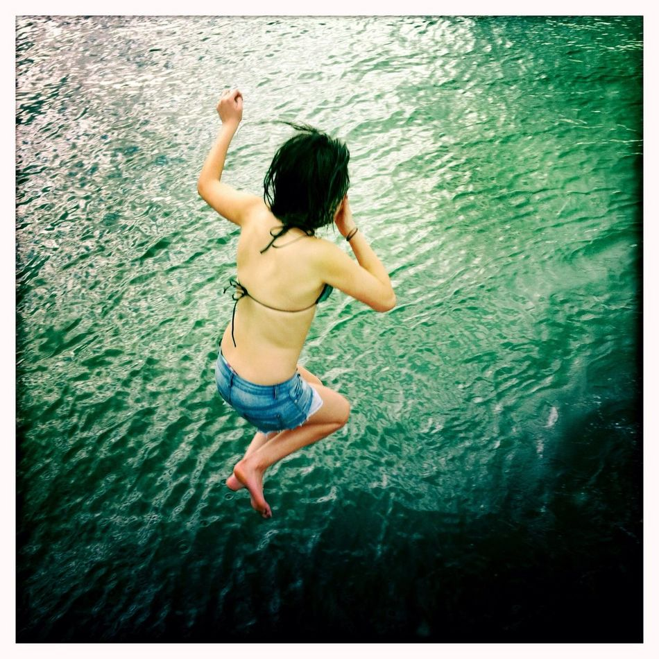 swimming at Quarantine Wharf No Flash Swimming Blanko Film