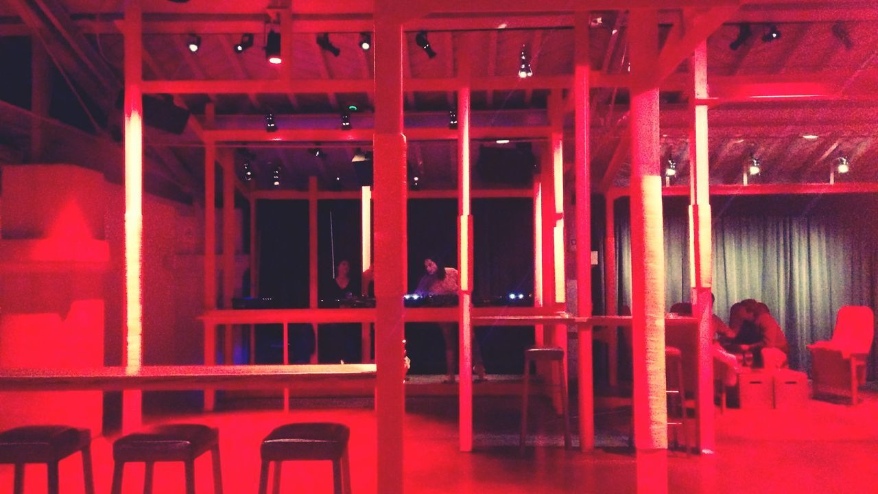 red, indoors, no people, day, prison