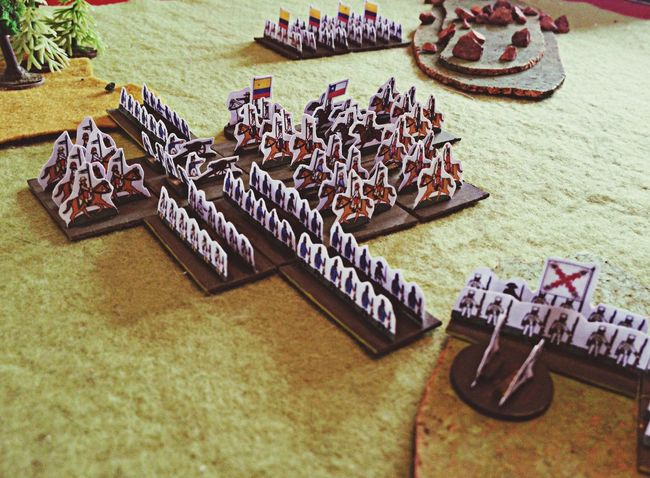 Paper Soldiers In Action - Wargames Hordes Of The Things Game Hobby