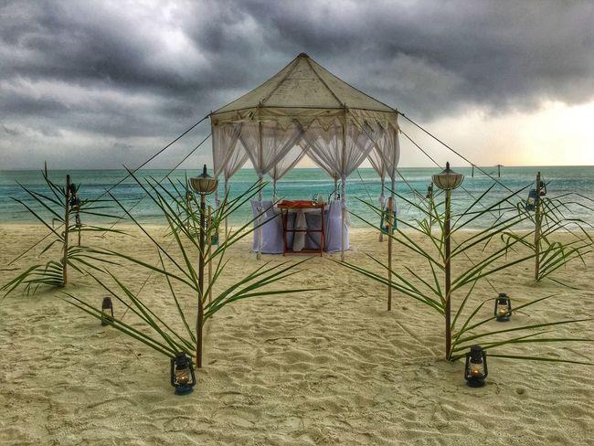 Maldives Island Beach Romantic Indian Ocean