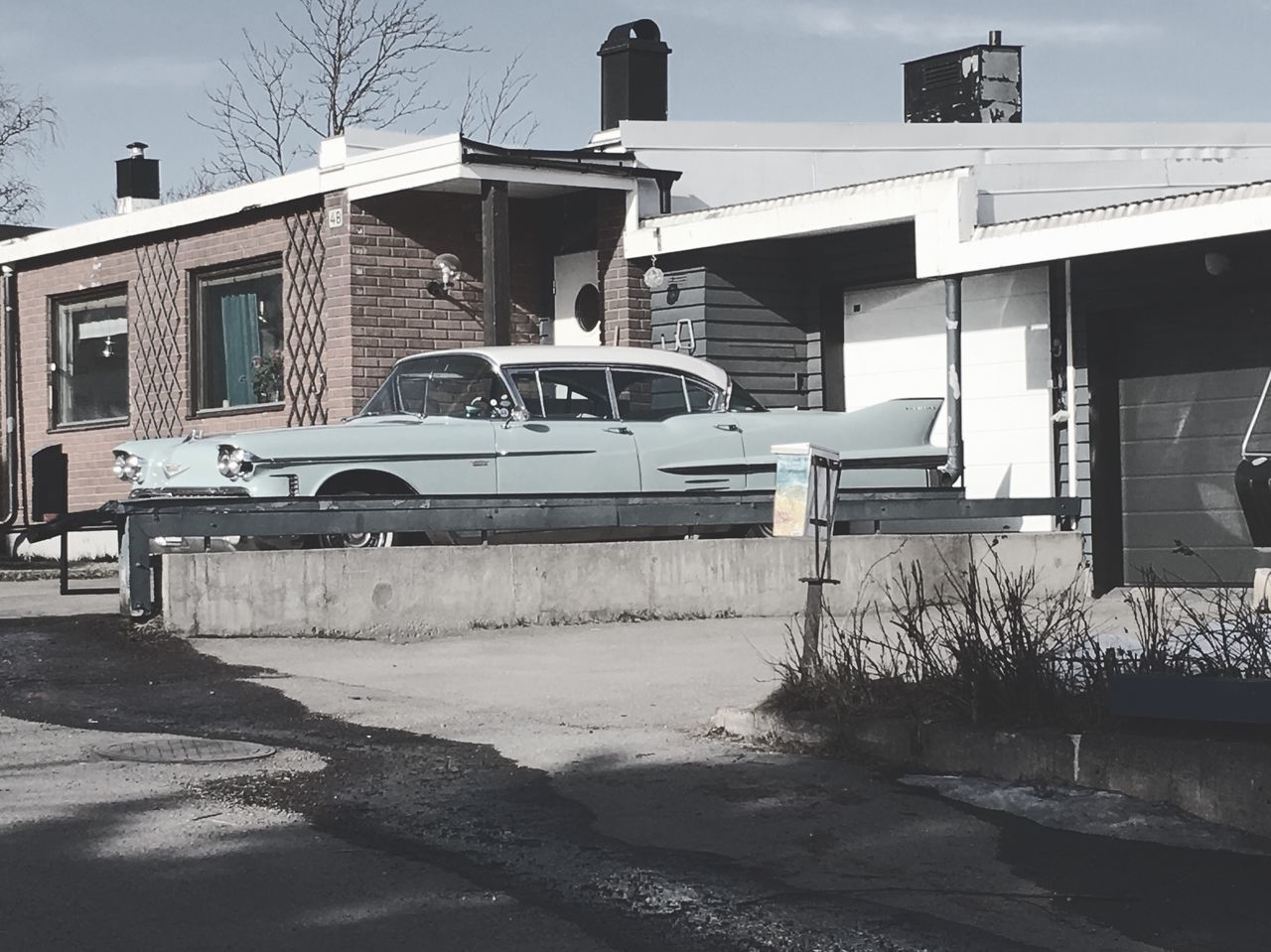 Some cars are bigger than the house Kiruna Kiruna The Drift Block Hometown Sweden Making A New Movie Liselotte Wajstedt Car Photography American Cars The Week Of Eyeem The Week On EyeEm ©Liselottewajstedt