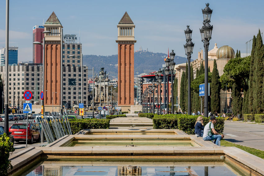 City Travel Destinations Tower Architecture Tourism Fountain No People Urban Skyline Cityscape Outdoors Day Public Park Natural Beauty Shadows & Lights Barcelona Portrait Of A City Postcard Street Photography Architecture Beautiful Growth Europe Center Urban Shadow And Light