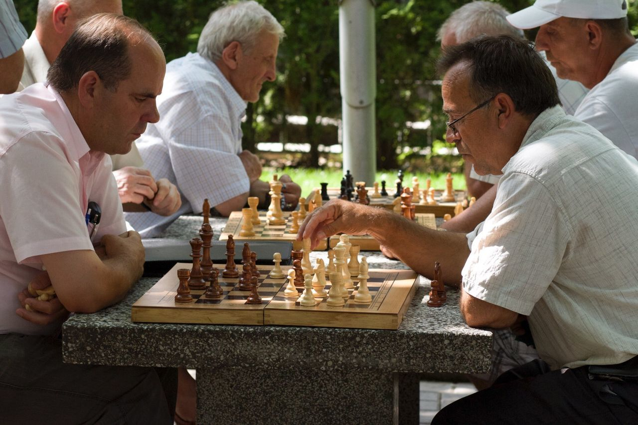 City Park Gjilan Kosovo Chess The Human Condition