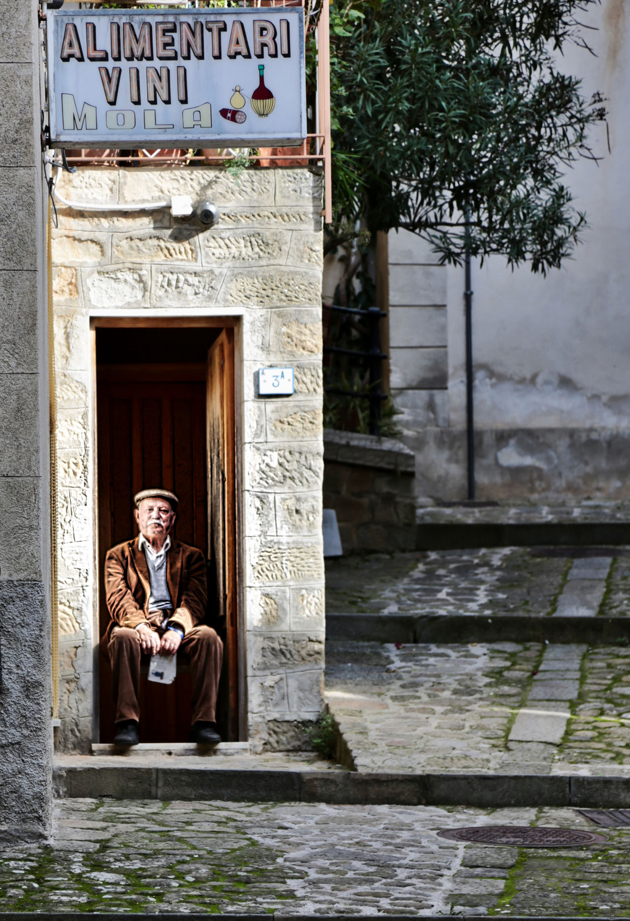 StandBy Architecture Building Exterior Italy Oldman Outdoors People Sicily Smiling