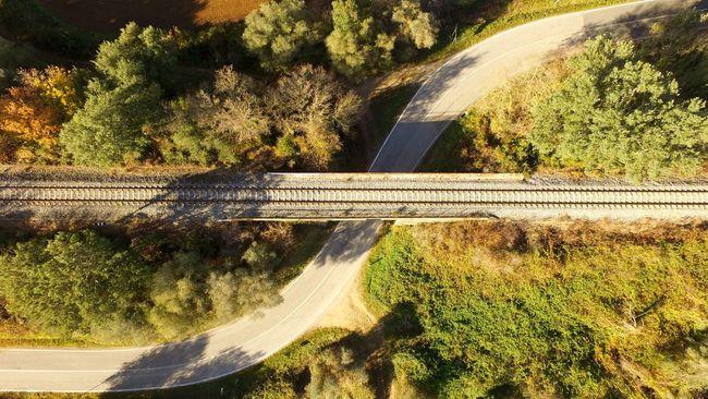Strada e inverno. DJI Phantom 3 Professional Streetphotography Drone  Dronephotography Nicola Nelli