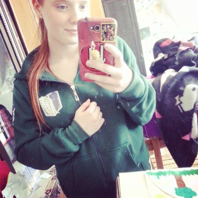 Hello World Selfportrait Selfie ✌ Peace ✌ Animelover Cosplay Jacket Attackontitan Aot New