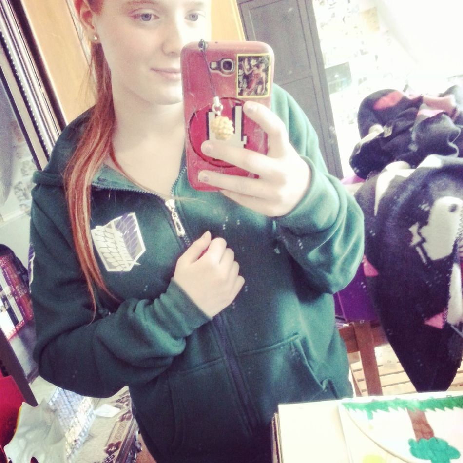 Hello World Selfportrait Selfie ✌ Peace ✌ Animelover Cosplay Jacket Attackontitan Aot New