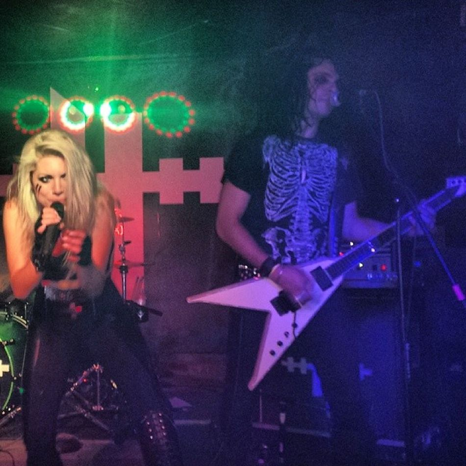 Love this pic of Hessler. At Bigfishpub Arizona Inyourface Hesslerofficial live metal kickassshow