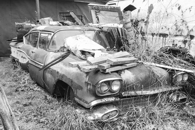 "I can't even look. ""Lost Metal Souls"" part11 Lost Metal Souls Eye4photography  EyeEm Best Shots - Black + White Monochrome Ladyphotographerofthemonth Getting Inspired Old Car Junkie EyeEm Gallery Bnw_junkie Vintage Cars"