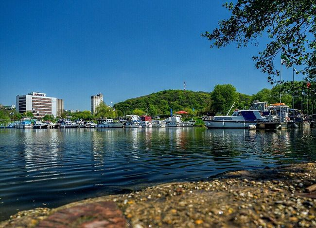 Saarland Saarbrucken Osthafen Saar River Harbour Harbour View Landscape Landscape_Collection Summer Water Water Reflections