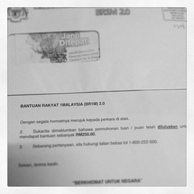 Br1m2 .0 Nie lah nama dye rezeki dimalam hari :) Alhamdulillah layak rupe nyer aku..haha!