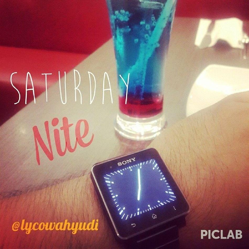 Saturday nite fella!!!! Piclab Phd Sonysw2 Smartwatch2 lovely dinner