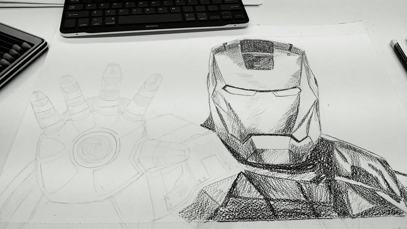 My school work, heh almost done, not... HighSchoolLife Ironman Black And White