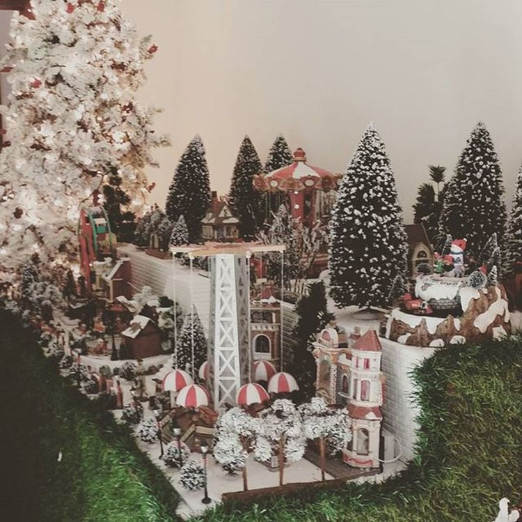 Maquete Natal Xmas Xmastown Christmas Christmastown Santaclausiscomingtotown Littletown Miniature