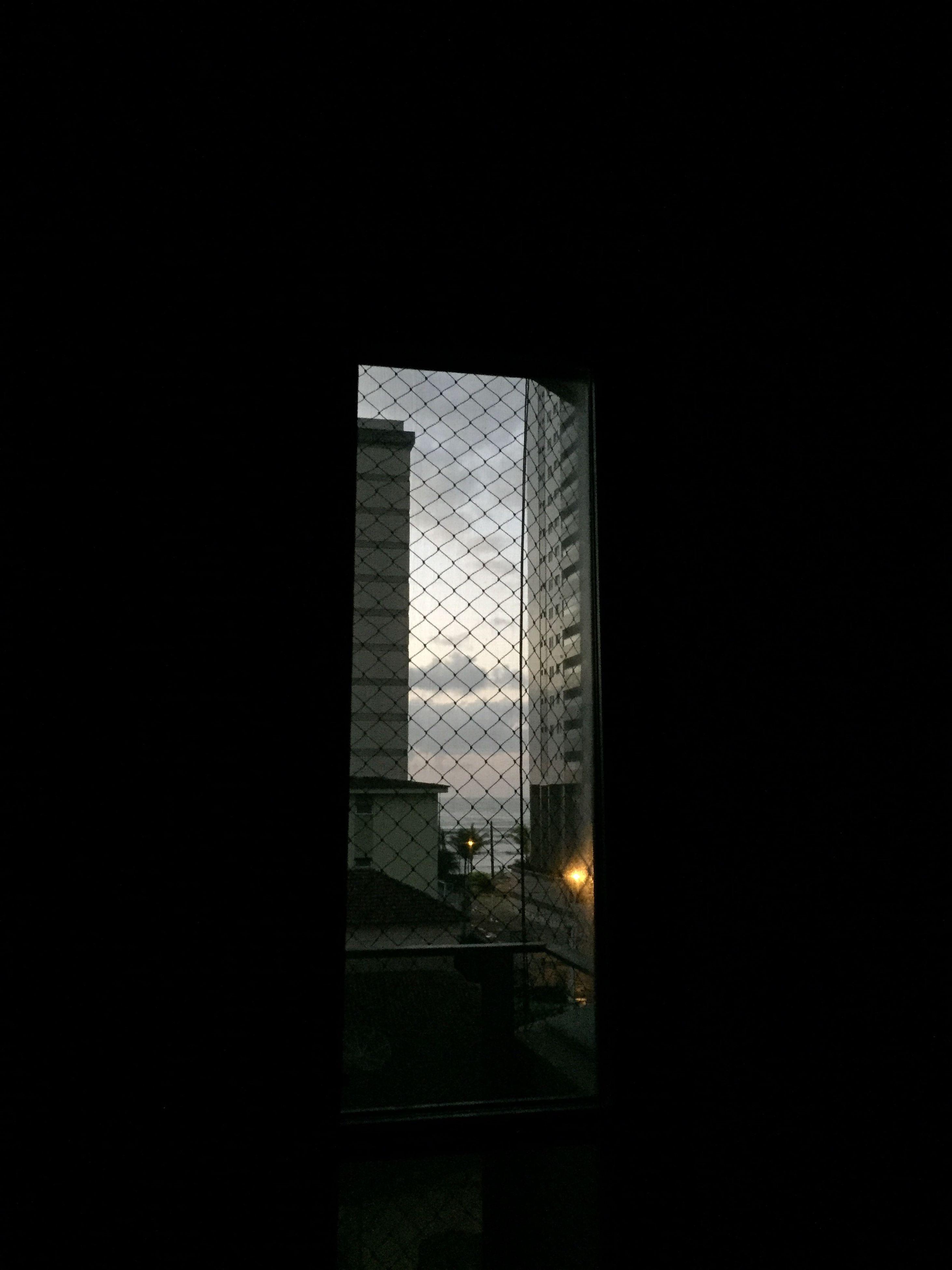 window, indoors, dark, illuminated, sky, tall, darkroom, no people, darkness