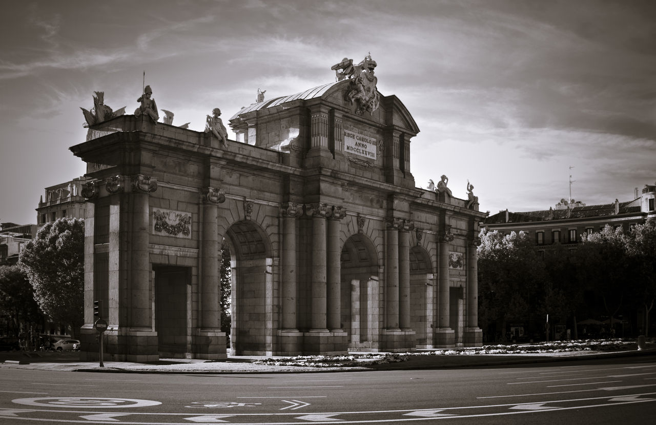 Architectural Column Architecture Building Exterior City Day Madrid Monument No People Puerta De Alcalá Sky