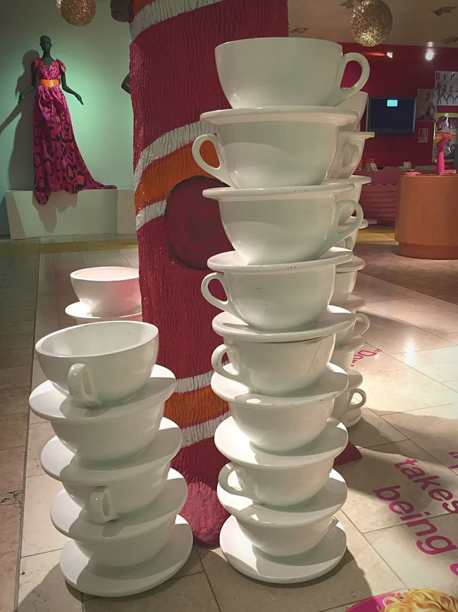 Rupaul California Taking Photos Walking Around Stacked Cups Store