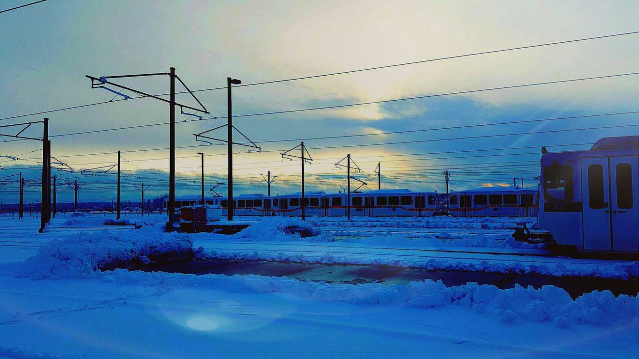 3oh3 Lightrail Snow 720 303 Colorado Denver Milehighcity Train Rocky Mountains Denvertography Coloradotography