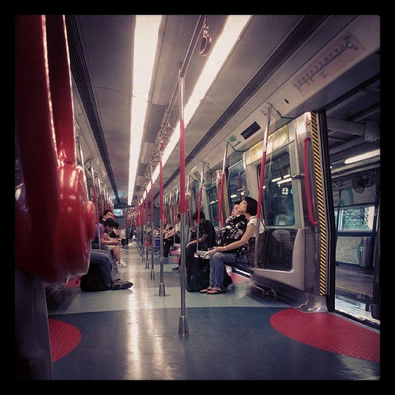 Saturday morning on the MTR Localiiz HongKong Instapic