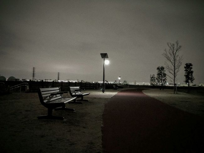 Night View Night Photography Night Jog Bench Night Park Silhouette_collection Sky_collection Night Scene Night Lights