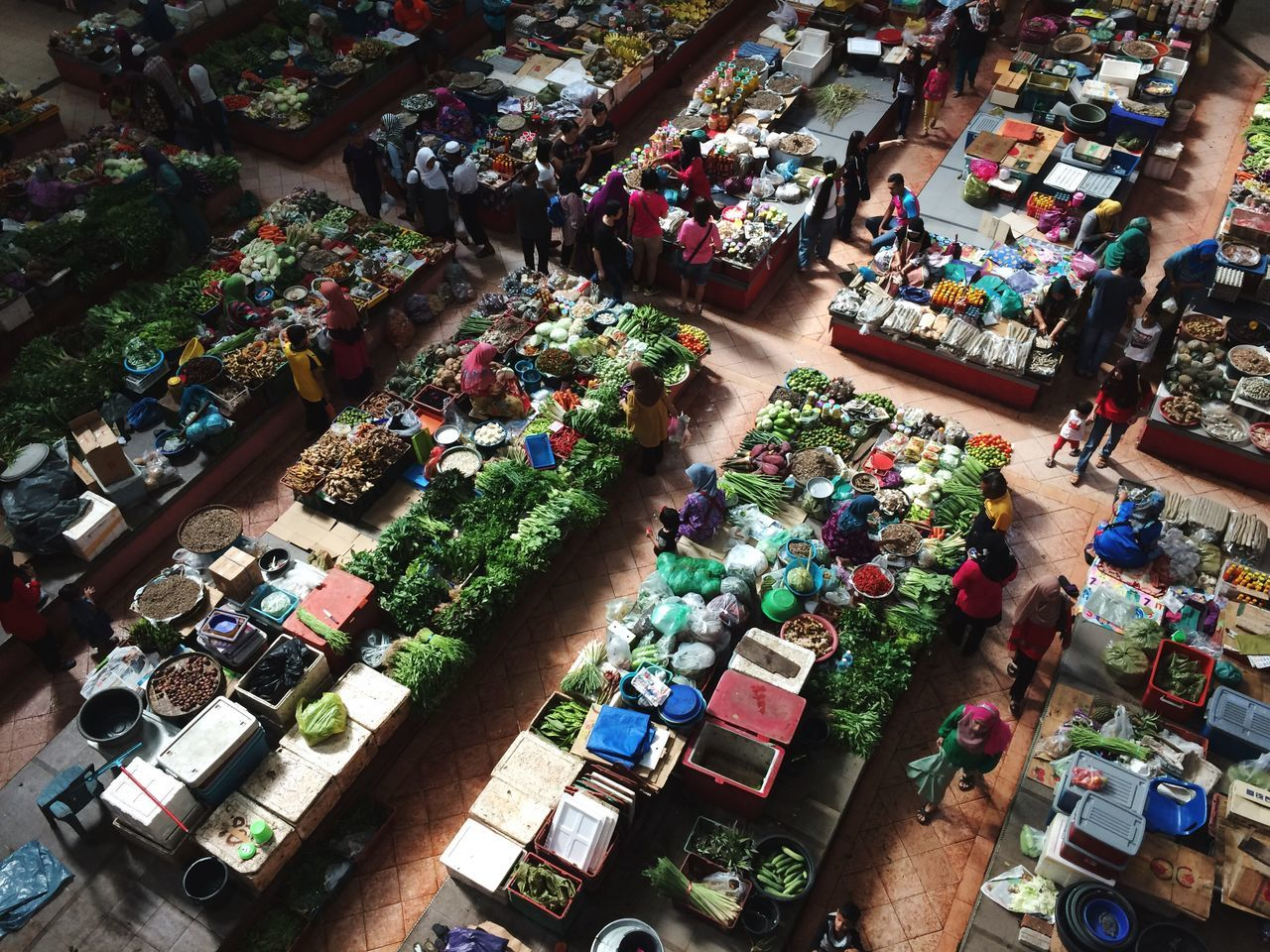 Siti khadijah market- High Angle View Retail  Variation Choice Market Abundance Multi Colored Market Stall Large Group Of Objects Store Business For Sale Buying Consumerism Sale Customer  Arrangement Bazaar Supermarket Indoors  Beautifully Organized My Year My View