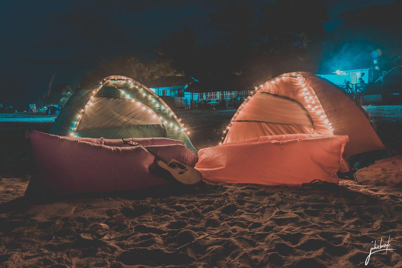 night, sand, no people, illuminated, beach, outdoors, water, nature
