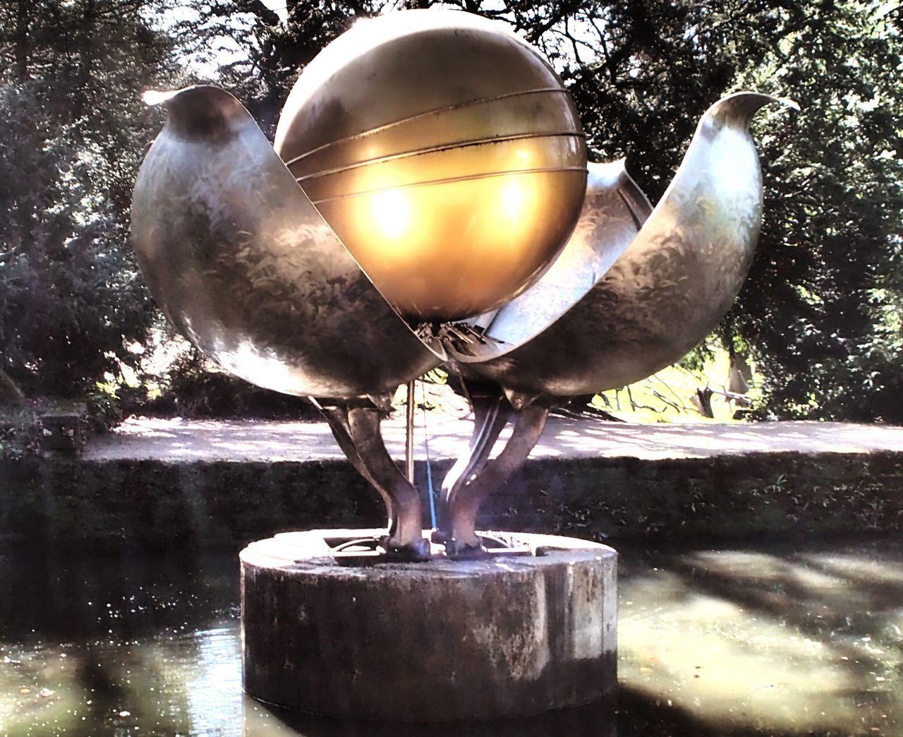 Ball Sunlight Sunlight Sculpture Garden Golden No People