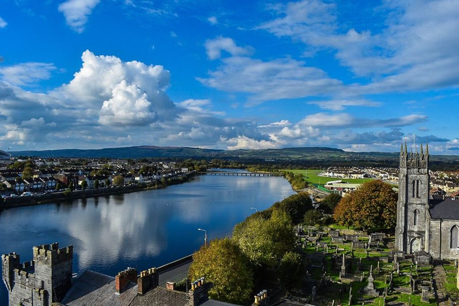 City Cityscape Sky Bridge - Man Made Structure Cloud - Sky Travel Water High Angle View Scenics Limerick Ireland Outdoors Been There.