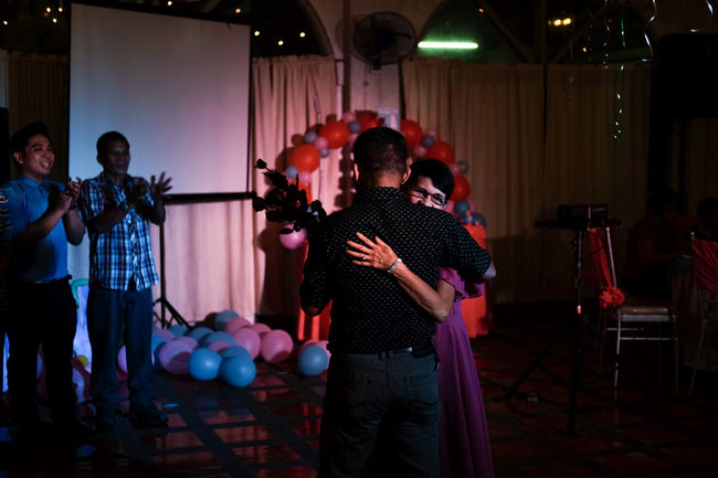Diding's 70th Birthday: when her boys treat her like a princess after years of hard work. TakeoverContrast Indoors  Stage - Performance Space Birthday 70th Philippines Fujifilm Manila Lifestyles Family Tradition Timeless Priceless Moments Life