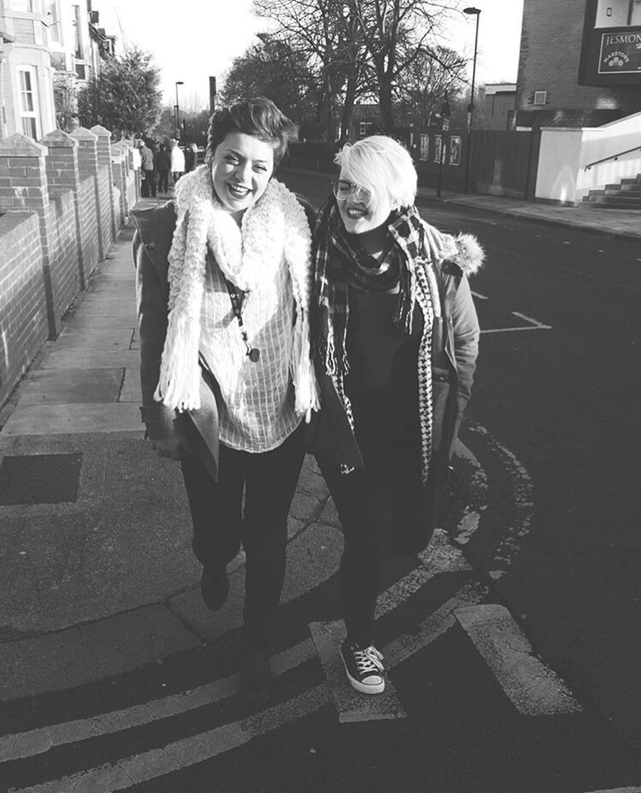 My cousin Mabel and I. Newcastle bound. Street Togetherness City Two People Walking Women Friendship Outdoors Full Length Lifestyles Portrait Real People Bonding Day People Warm Clothing Winter Cold Temperature England North Beautiful Family Cousins ❤ Love Girls First Eyeem Photo