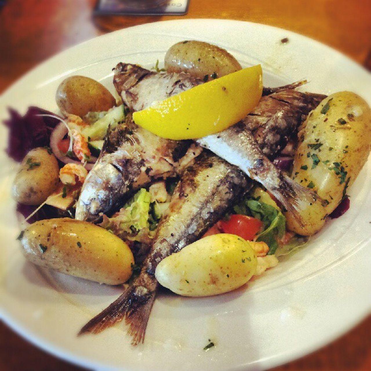 Grilled Cornish Sardines