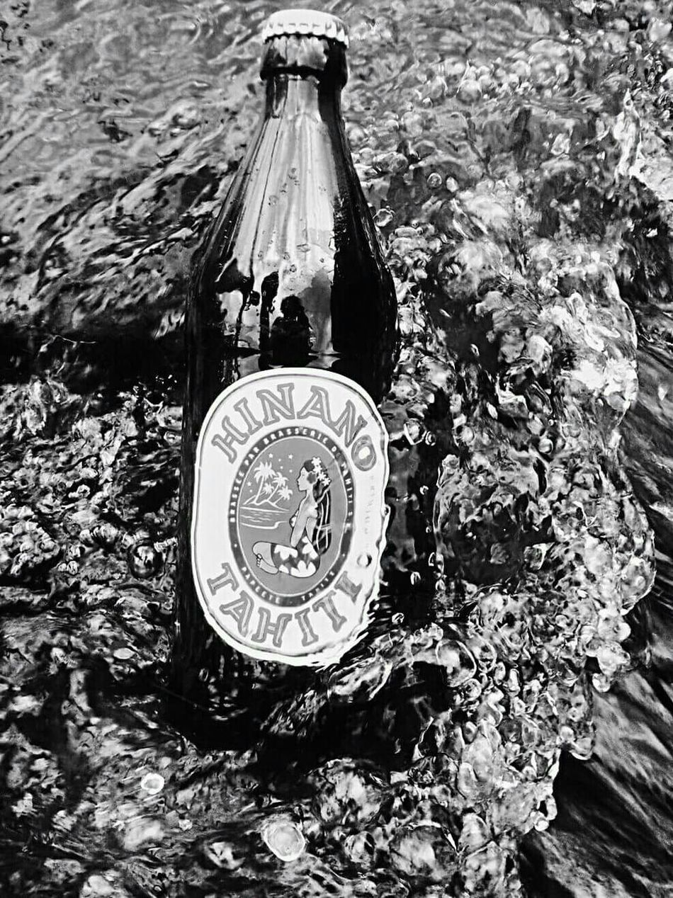 Hinano Beer Tahitian Vibes Tahitian Beer In The River By The RiverBlackandwhite Photography Blackandwhite Drinking Beer Tahitian_beer_Hinano_Sun 😄 Hinano 🍺🍻👌😁