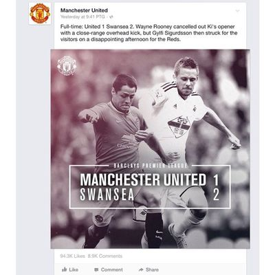 Proud to be MU fans..n also proud to see this..cause we don't afraid to tell those haters out there tht we lose on our 1st game..the thing is we afraid tht we'll not achieve BPL...hey haters shut the fuck up buddy..!!! its just 1st game ..!!! muahhahahhaa (wahh feeling2 player MU pulak ak nie) GGMU
