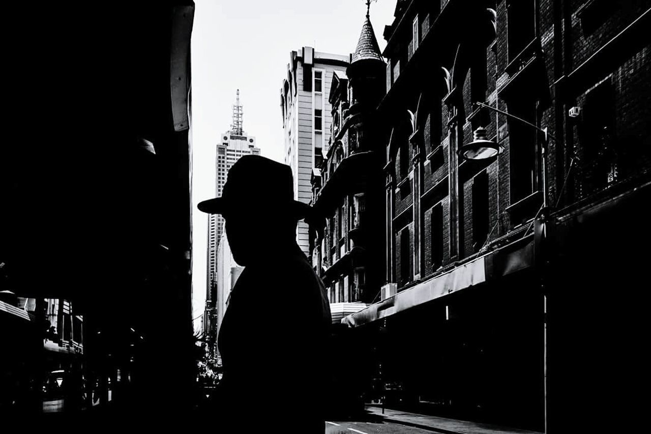 Him One Person Silhouette The Street Photographer - 2016 EyeEm Awards Street Photography Australia Streetphotography FujiX70 Shadow And Light Melbourne City Bestoftheday EyeEm Best Shots People Photography Shadows & Lights 28mm Lens Blackandwhite Photography Monochrome Photography