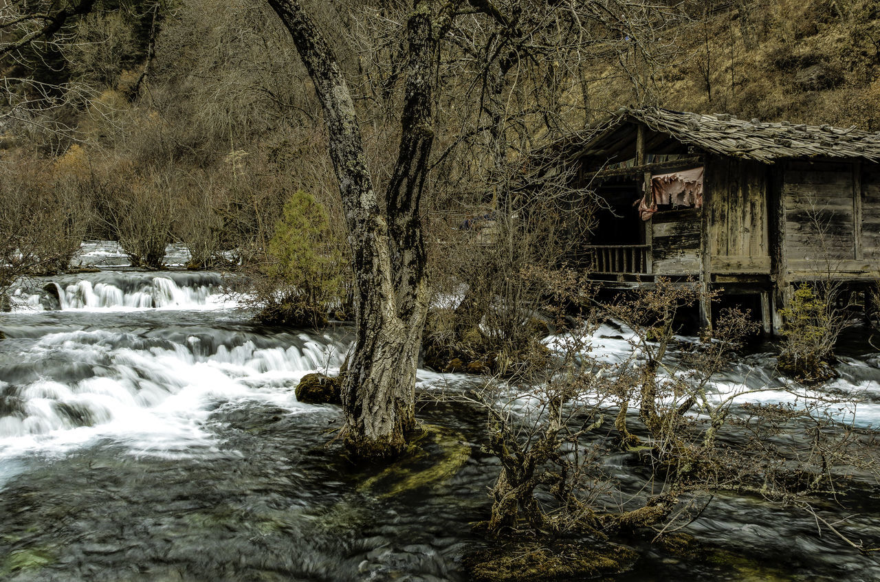 Adventure Beauty China Clean Clear Cold Flowing Jiuzhaigou Motion Nature No People Outdoors Photography Rocks Sichuan Stream Tourism Tourist Tranquility Travel Tree View Water Waterfalls Winter