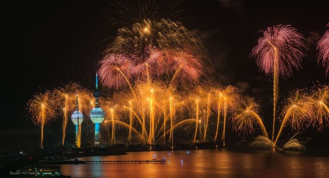 Kuwait Festival of 25th and 26th national day Fireworks Kuwait Kuwait Towers Long Exposure Sony A7RII Landscape Seascape