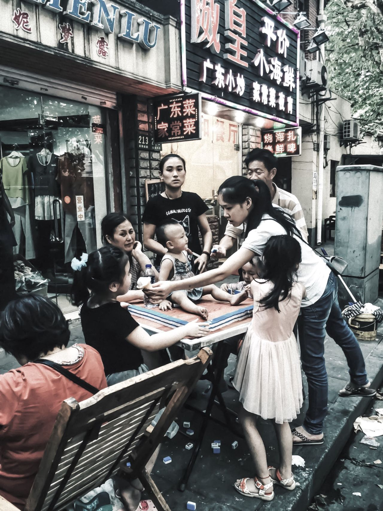 Shanghai street 01 Shanghai Streets My City My Street Photography Shanghai Photography Streetphotography Streetphotographer Love Shanghai Taking Photos Children Family City Street Shanghai Life Hanging Out IPhoneography Enjoying Life Looking At Camera
